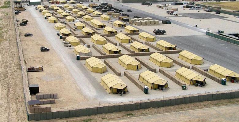 Быстровозводимая военная база